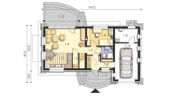 проект дома Такома